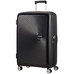 American Tourister - Soundbox Spinner Extensible, 77cm, 97/110 L - 4.2 KG, Noir (Bass Black)