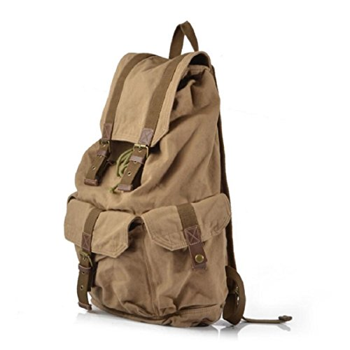 Z&N Backpack 40 Litri Di Capacità Grande Tela Di Alta Qualità Borsa A Tracolla Militare Zaino Rivetto Sacco A Campeggio Da Viaggio All'Aperto Zaino Dello Studente Universitario Zaino Da Daypack B 40L B