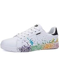 JEDVOO Homme Femme Baskets Mode Classics Lacet Sneakers Basses Fitness Sport Chaussures de Gymnastique