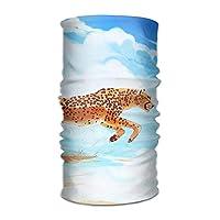 vbcnfgdntdy Running Cheetah Unisex Breathable Headband Bandanas Headwear Balaclava Neck Gaiter Magic Scarf UV Protection for Daily Activities