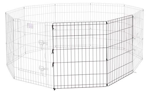 Midwest Homes for Pets Universal Pet Playpen 2-Panel Extension Kit | Fits Metal 30-Inch Dog Pens | Kit Measures 30H x 47.50W Inches | Includes 4 Thumb Snaps, 2 Ground Stakes
