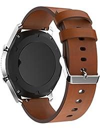 22mm liberación rápida reloj bandas pinhen silicona piel gdfb correa de repuesto de acero inoxidable para Samsung Gear S3, Pebble tiempo, Moto 360, LG G Reloj, Asus Zenwatch, ticwatch