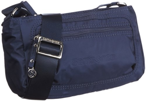 Samsonite Move HORIZ.SHOULDER BAG 3 COMP 46819, Damen Umhängetaschen, Braun (BROWN 1139), 26x16x12 cm (B x H x T) Blau (DARK BLUE 1247)