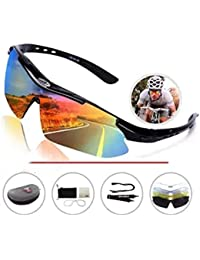12e5a9b04b ShiningLove Unisex Cycling Sunglasses Fashion Polarized Outdoor Running  Hiking Climbing Black Frame Eye Glasses with 5