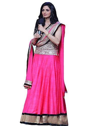 1270 Sridevi Jhalak Dikhlaja Pink Lehenga Set