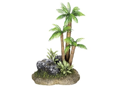 Nobby Palm de árbol de Navidad con plantas acuario adornos, 12x 9,5x...