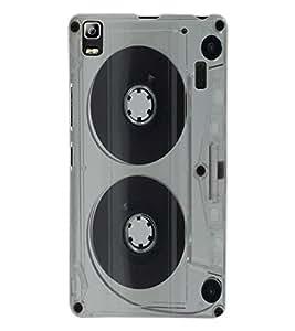 ColourCraft Retro Audio Cassette Design Back Case Cover for LENOVO A7000