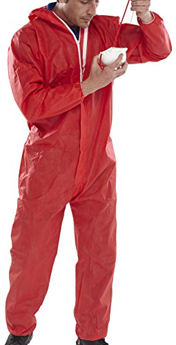 Einweg Overall Typ 5/6, M, rot, 1 - Roter Overall