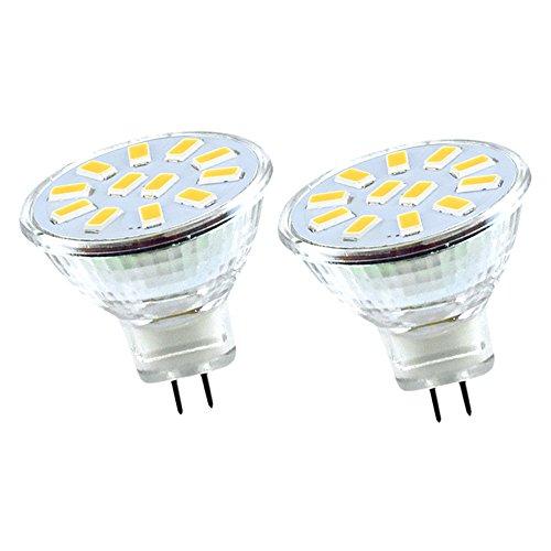 Bonlux MR11 GU4 LED Birne 2W 12V Lampe Kaltweiß 6000K 120 Grad Spotlicht für Haus, Landschaft, Schienen-Beleuchtung 2-Stück - 12 Moderne Landschaft Beleuchtung