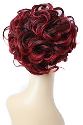 PRETTYSHOP Dutt Haarteil Zopf Haarknoten Hepburn-Dutt Haargummi Hochsteckfrisuren rot mix #2T113A HK113