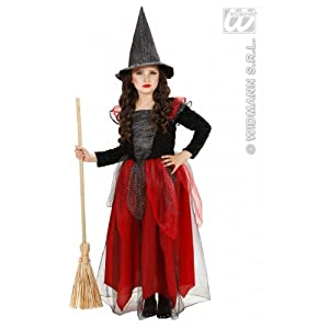 WIDMANN WITCH - BLACK/BURGUNDY 110cm/116cm (dress hat)