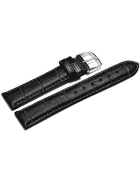 Uhrenarmband - Orig. Watchband Berlin - Kroko Prägung - schwarz - 20mm