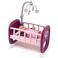 Smoby - 220343 - Baby Nurse - Berceau A Barreaux pour Poupon + 1 Mobile