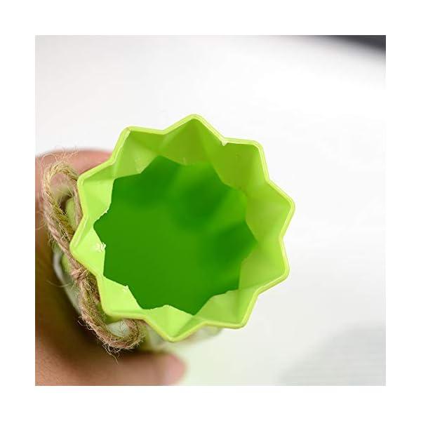 Kanggest.Florero de plastico plástico Hueca jarrón Maceta Planta Casa Boda Oficina Decorativo Flores Plantas Florero…