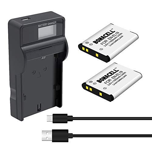 Bonacell Akku für Nikon EN-EL19 Ersatzakku 2400mAh und (1) USB Ladegerät Set Kompatibel mit Nikon Coolpix S32,S100,S2600,S2700, S2750, S3100, S3200, S3300, S3500, S4100, S4150 (S3600 Nikon Coolpix Für Akku)