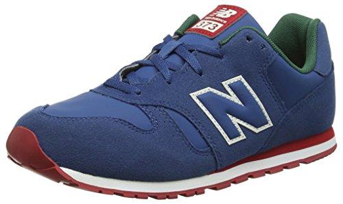 New Balance Unisex-Kinder 373 Sneaker, Blau (Blue/Red Pd), 39 EU -