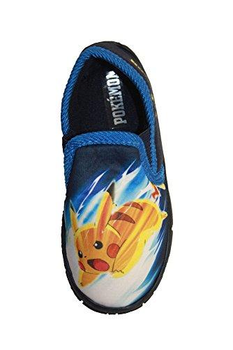 Socks Uwear  Pokemon Astley,  Jungen Durchgängies Plateau Sandalen mit Keilabsatz Blau