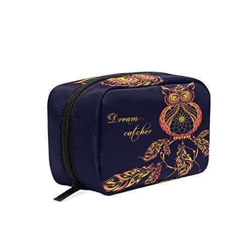 Mnsruu bolsas de maquillaje, atrapasueños, búho, bolsa de viaje para cosméticos, neceser para mujeres y niñas