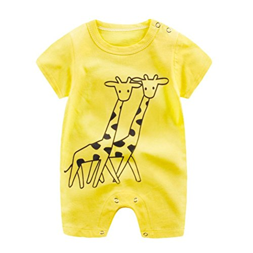 Bestoyard vestiti estivi per neonati da 12-18 mesi vestiti da pagliaccetti abiti senza maniche taglia 80
