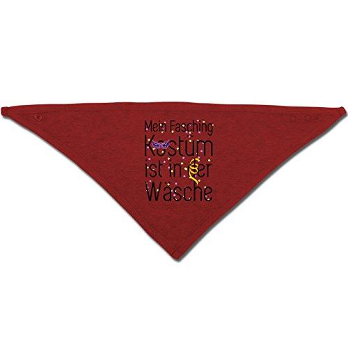 Anlässe Baby - Mein Fasching Kostüm ist in der Wäsche - Unisize - Rot - BZ23 - Baby-Halstuch als Geschenk-Idee für Mädchen und (Kostüm Ideen Party Motto Rotes)