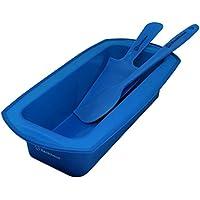 Backhaus Molde Rectangular para Bizcochos y Espátula de Silicona Antiadherente Juego de Repostería de Silicona Premium | Libre de BPA | Grande: 23cm - Azul