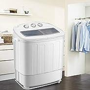 Machine à Laver 2 en 1 Mini Lave-Linge Électrique avec Essorage pour Maison et Dortoir Laveuse et Essoreuse Fo