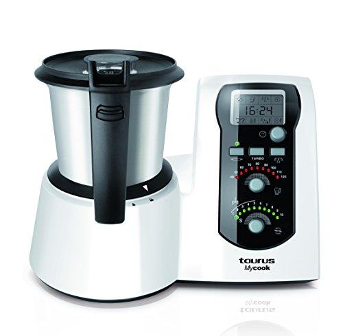 Taurus Mycook - Robot de cocina, 1600 W, capacidad de 2 l, color blanco