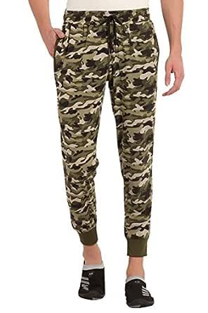 Alan Jones Clothing Camouflage Men's Joggers Track Pants (JOG18-SK-CAM01-OLIVE-S_Small_Olive)