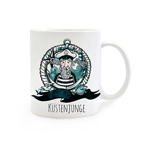 Tasse Becher Kaffeetasse Kaffeebecher Küstenjunge Käpt´n Kapitän maritim ts235
