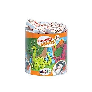 Aladine 45135 - Kit de tampones, diseño de Dinosaurios Importado de Italia
