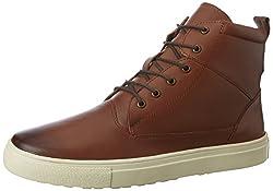 Carlton London Mens Nelda Tan Leather Boots - 9 UK/India (43 EU)