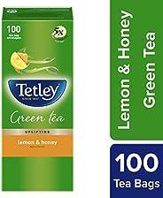 Tetley Green Tea, Lemon and Honey, 100 Tea Bags