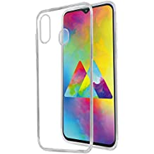 Amazon Brand - Solimo Mobile Cover (Soft & Flexible Back case) for Samsung Galaxy M20 (Transparent)