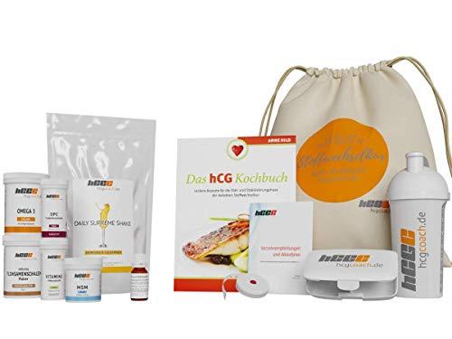 21-Tage-hCG-Stoffwechselkur mit Globuli, Premium-Weideshake, Kapseln. Gratis dazu: 140 Rezepte, Shaker, Pillendose, Maßband (Eierpunsch)