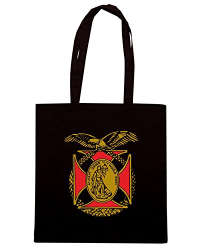 T-Shirtshock - Borsa Shopping TM0429 Military-Order-Of-The-World-War-Logo Nero