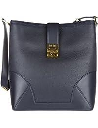 MCM sac à l'épaule femme en cuir blu