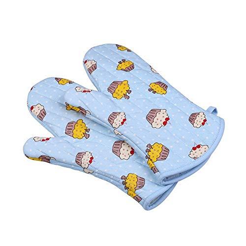 CLLCR Ofen Handschuhe - Extra Lange 33Cm Verdicken Mikrowelle Handschuhe/Backofen Backen Werkzeuge/Verbrühschutz,Blau (Ofen-handschuhe-extra Lang)