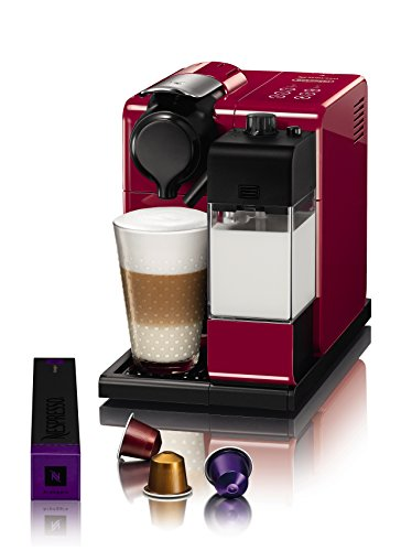 Nespresso EN550.R Lattissima Touch Automatic Coffee Machine, Glam Red