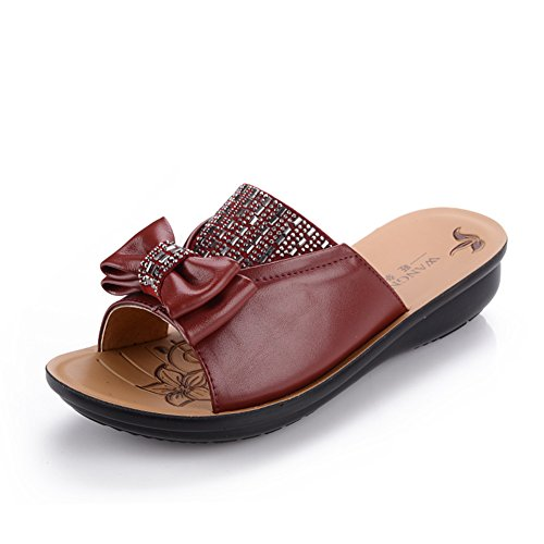 Scarpe di mamma/ vecchi sandali/Donne antiscivolo morbide pantofole alla fine di una parola B