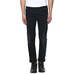Mufti Mens Black Low Rise Narrow Fit Jeans (36)