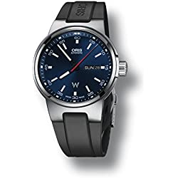 Oris Williams F1 Day Date Automatic Blue Dial Black Rubber Mens Watch 735-7716-4155RS