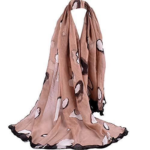 ABsoar Schal Damen Mode Frauen Lotus Druck Tücher Halsschmuck Winterschal Kaschmirschal Damenschal Schaltuch Umschlagtuch Halstücher -