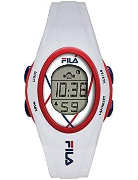 FILA Unisex-Armbanduhr Digital Quarz 38-050-101 FILACASUAL Weiß Plastik