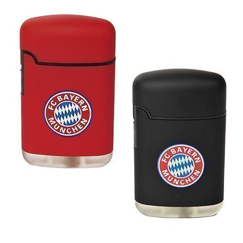 2er Set Feuerzeug Rubber Easy Torch FC Bayern München FCB rot/schwarz