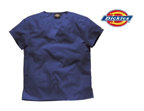 DICKIES WORKWEAR Schlupfhemd Medizin 2 Taschen mit V-Ausschnitt Marine