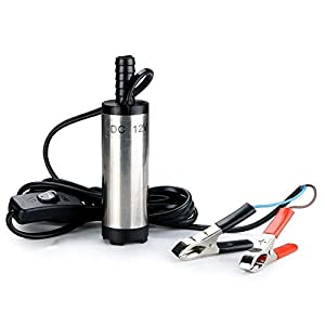 Bomba sumergible portátil de acero inoxidable 12V Bomba sumergible Agua Aceite diesel Keroseno Bomba de transferencia de…