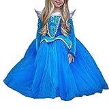 Mädchen Prinzessin Kostüm Eiskönigin Kleid für Mädchen Karneval Verkleidung Party Cosplay Faschingskostüm Festkleid Weinachten Halloween Fest Kleid Cinderella