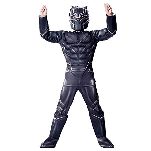 YXIAOL Rächer, Panther, Superhelden-Kostüme, Film-Cosplay-Kostüme, Halloween-Karnevals-Party-Kostüme, 3D-Stil, Kinder,Child-S (Panther Kostüm Für Hunde)