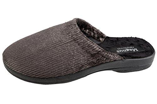 gibra , Chaussons pour homme gris foncé