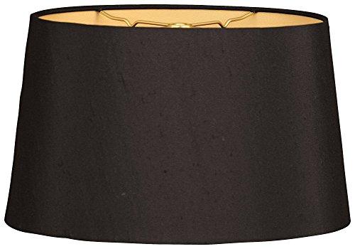 Flach-oval-design (Royal Designs, Inc flach oval, gebundenen Lampenschirm-Schwarz 12x 14x 8,5)
